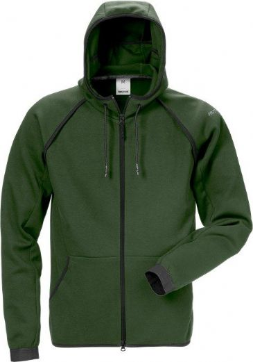 Fristads Hooded Sweat Jacket 7462 DF (Army Green)
